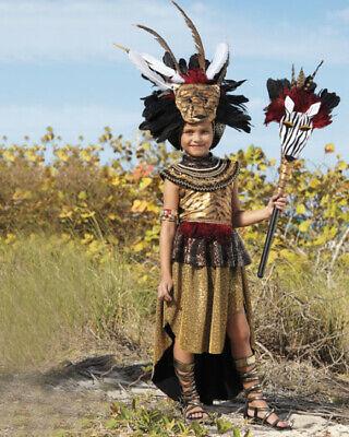 Chasing Fireflies Tribal Queen Costume Girls Size 10 Headpiece Mask Bracelet NEW