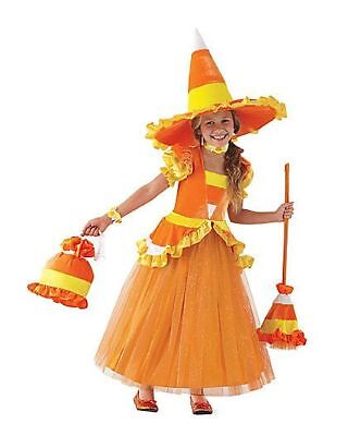 Chasing Fireflies Costumes Halloween (NEW Chasing Fireflies Candy Corn Tutu Halloween Witch Girl Costume 5pc. Sz.)