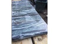 GRANITE SLAB OFFCUT 270 X 700mm green/black/white 30mm THICK (WORKTOP)