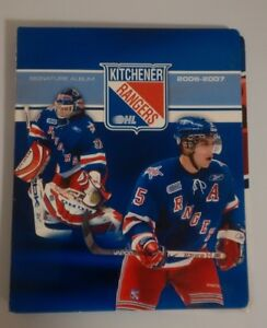 6 OHL KITCHENER RANGERS SIGNATURE ALBUM SETS (from 2006 to 2014)
