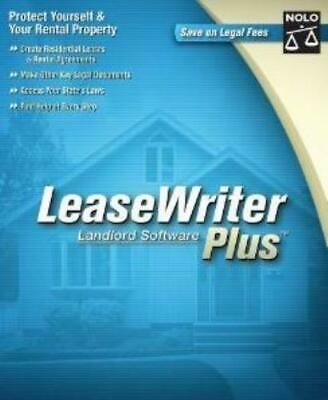 LeaseWriter Plus PC CD print legal lease rental document tenant agreements tools (Lease Agreement Software)