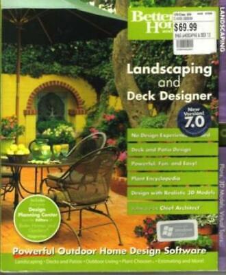 Better Homes & Gardens: Landscaping And Deck Designer 7.0 PC CD create models + Landscaping Deck Designer