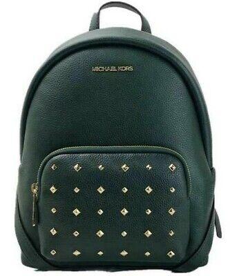 Nuevas Michael Kors Erin Medium Backpack Carreras Verde Piel Tuercas Bolso Polvo