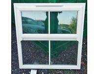Cream Upvc Double Glazed Cottage Window 1087mm W x 1093mm H Near Ratcliffe on Soar
