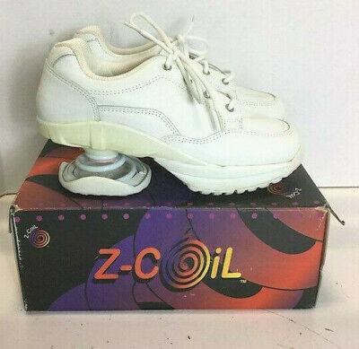 NEW Z Coil Women Shoes Size 8 All White Leather Pain Relief Athletic Sneaker NIB