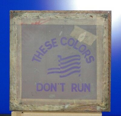 Vintage These Colors Dont Run Silk Screen T-shirt Stencil Frame Advertising Art
