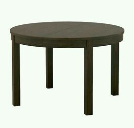 BJURSTA IKEA extendable dining table brown