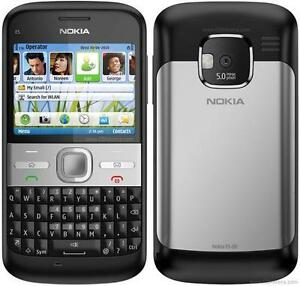 CELL AVEC UN CLAVIER QWERTY NOKIA E5 POUR FIDO ROGERS CHATR HSPA 3G GSM CAMERA 2MP VIDEO BLUETOOTH MP3 MP4