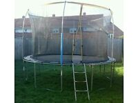 10/12 ft trampoline with enclosure -RESERVED