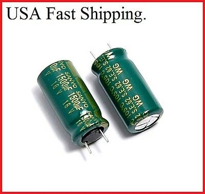 6pcs 16v 1500uf Sanyo Low Esr Electrolytic Capacitors