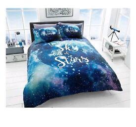 """BNWT Double Duvet """"Galaxy"""" style Bedding Set"""