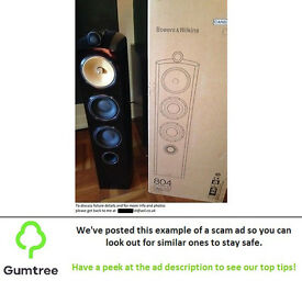 B&W Diamond 804 speakers -- Read the description before replying to the ad!!!