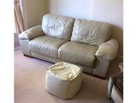 Cream leather sofa £40