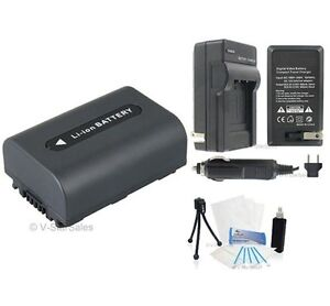 NP-FH50 Battery + Charger + BONUS for Sony ALPHA A230 A290 A330 A380 A390