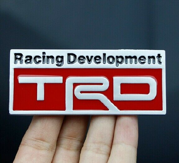 Car modification Badge Emblems Stickers Decals For Racing Development TRD Red