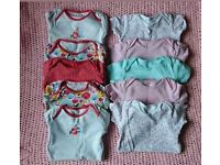 Baby Girl Body Vests 12-18 months, Excellent Condition