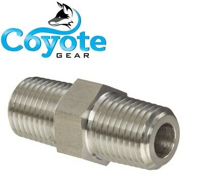 18 Npt Hex Pipe Thread Nipple 316 Forged Stainless Steel High Pressure 3000 Ss