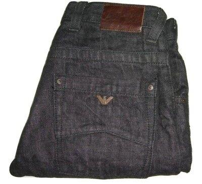 Mens AJ ARMANI Black Denim Jeans W31 L33 Straight Leg Classic