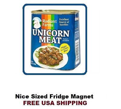 176 - Merry Unicorn Meat Refrigerator Fridge Kitchen Magnet