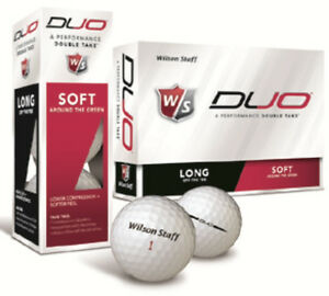 Wilson-Staff-Duo-2-Piece-Golf-Balls-Brand-New-1-Dozen-White-Golf-Balls-7281