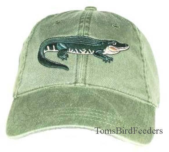 Alligator Embroidered Cotton Cap NEW Reptile Hat