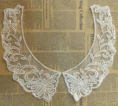 1pcs Butterflies flower Fake Collar Lace Crochet Mesh lace DIY clothes Crafts (Fake Butterflies)