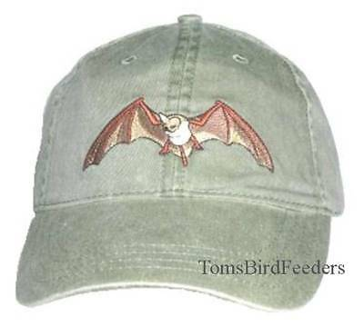 Bat Embroidered Cotton Cap NEW Mexican Free-tailed