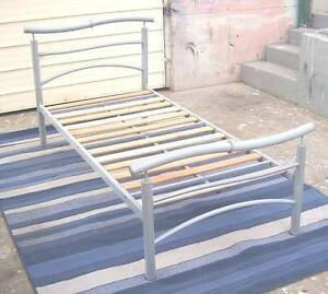 Tubular Metal and Pine Bed Frame Inala Brisbane South West Preview