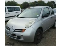 Nissan micra silver 1.0 petrol k12 breaking for spare parts Please call 07593926986