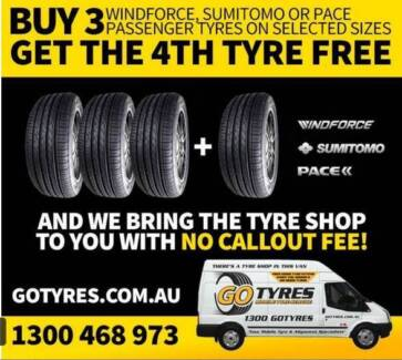 EXAMPLE PRICE LIST - CHEAP Buy 3 Get 1 FREE Tyre Deals Worongary Gold Coast City Preview