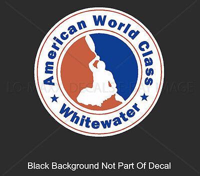 American World Class Whitewater Kayaking River Sports Boating Vinyl Sticker