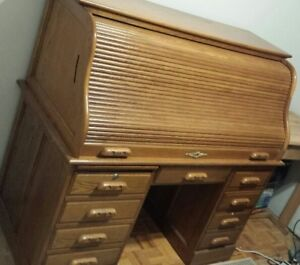 Unique roll top desk with character!