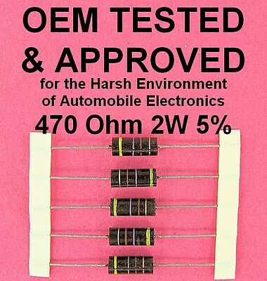 470 Ohm 2 Watt 5 Wirewound Power Resistor Oem Approved 2w Axial Lead Ww 5ea