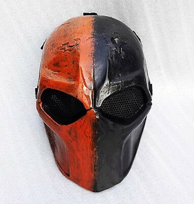 MAXNETO Custom Deathstro Airsoft Mask Paintball BB Gun Protective Gear Full Face
