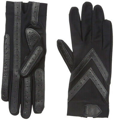 Isotoner Women's Spandex Stretch Shortie Gloves-Black S/M
