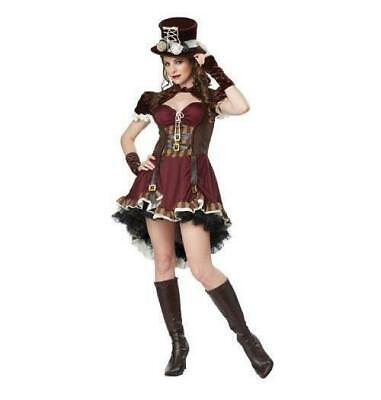 Wild West Woman Costume (Wild West Victorian 'Steampunk Girl' Womans M Adult Cosplay Costume w/)