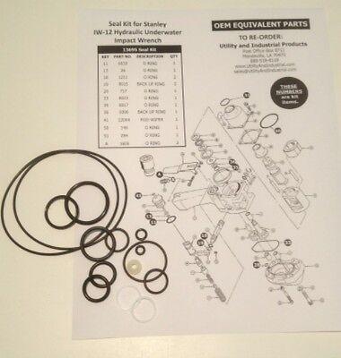 Seal Kit - Stanley Iw-12 Hydraulic Underwater Impact Seal Kit 13695 10 Pack