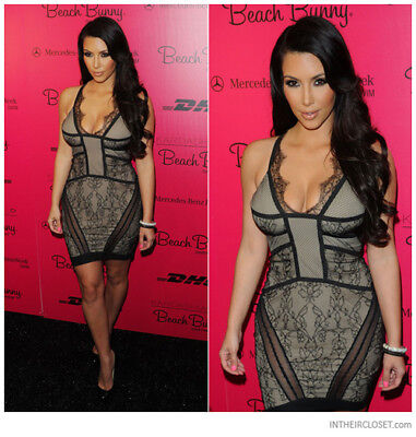 Preen Fallen Lace Mini Dress As seen on Kim Kardashian $1750 Size Medium