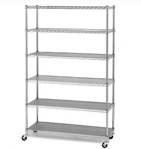New Commercial Steel Shelving Wire Shelves Rack Storage 6 Shelf Industrial