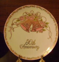 "MADE IN JAPAN - ""50th"" Anniversary Plate 8 1/2"""