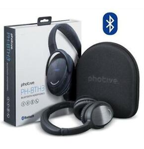 PHOTIVE BTH3 OVER-THE-EAR WIRELESS BLUETOOTH HEADPHONES