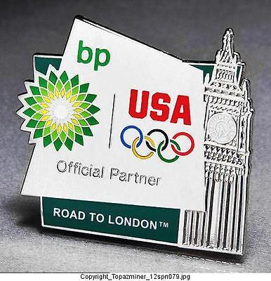 Olympic Pins 2012 London England Uk Bp Petro Sponsor Partner Team Usa Big Ben