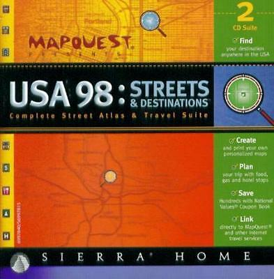 Mapquest Usa 98 Pc Cd Create Custom Plans Maps Mapping Atlas   Travel Suite Tool