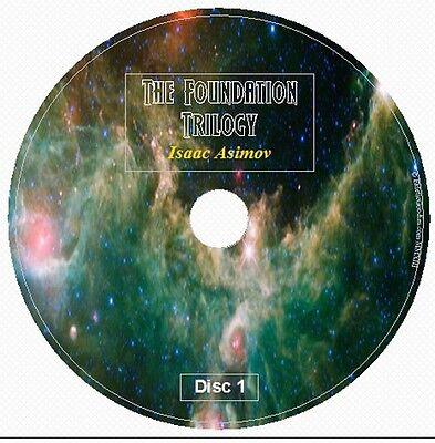 THE FOUNDATION TRILOGY by Isaac Asimov 8 Audio CD Galaxy Space Opera Hari Seldon