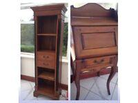 French Ornate Vintage Furniture Desk Bureau and Unit