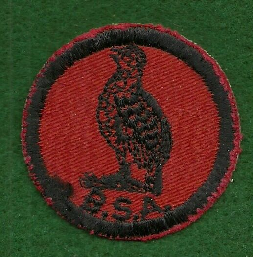 VINTAGE  BOY SCOUT PATROL RED & BLACK PATCH - BOBWHITE