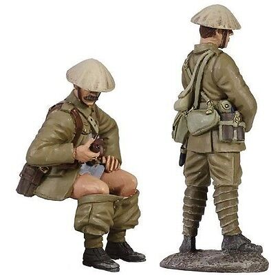 W Britain Soldiers 23045 British Infantry Trench Lift Set No 1 When Nature Calls