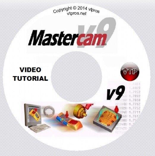 MASTERCAM v9 v8 MILL, SOLIDS, MULTI-AXIS Video Tutorial Training