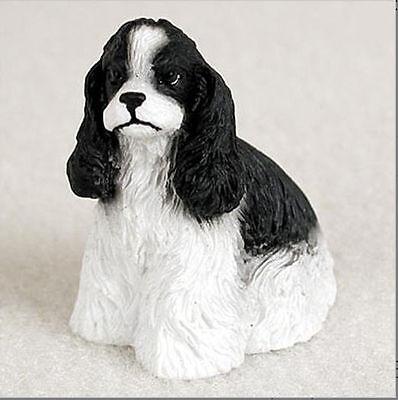 (Cocker Spaniel Mini Hand Painted Figurine Black/White)