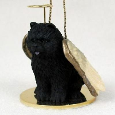 CHOW ANGEL DOG CHRISTMAS ORNAMENT HOLIDAY Figurine Statue Black memorial gift